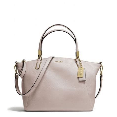 Crossbody 2822 Leather the small kelsey satchel in leather from coach great neutral color grey birch my