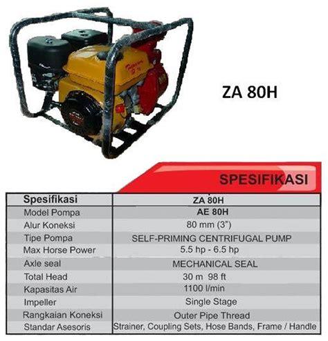 Harga Pompa Air Untuk Irigasi Tetes by Harga Jual Tagawa Za80h Pompa Air Irigasi