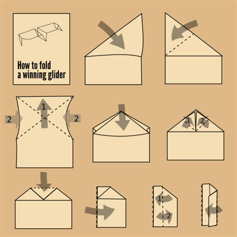 How To Make A Glider Out Of Paper - a design for a paper airplane a winning glider style by