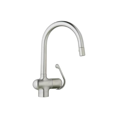 grohe faucet kitchen shop grohe ladylux pro stainless steel 1 handle pull down