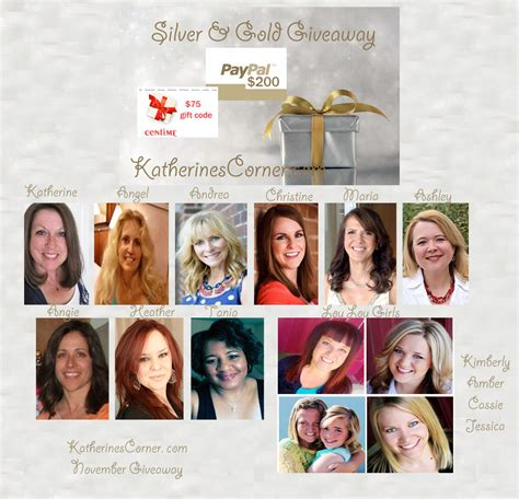 Gold Giveaway - silver and gold giveaway katherines corner