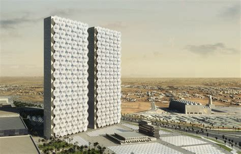 design competition middle east rex designs conjoined media towers with retractable facade