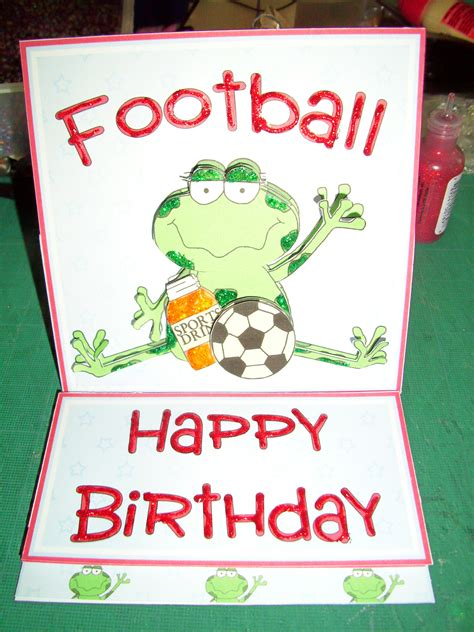 football birthday cards to make folksy buy quot easel card football frog quot craftjuice