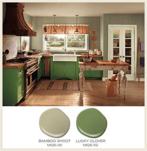 behr kitchen paint color of the month lucky clover green cabinets accompany