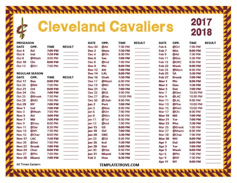 Cleveland Browns Schedule 2018 Printable