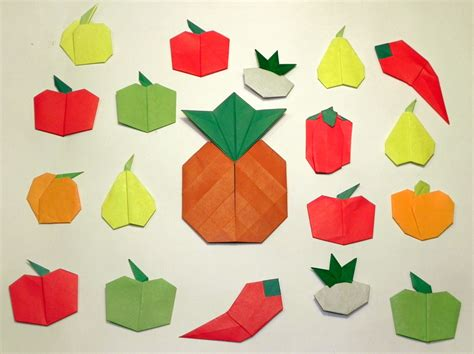 Origami Fruit - fruits and vegetables a variety of fruits and vegetables