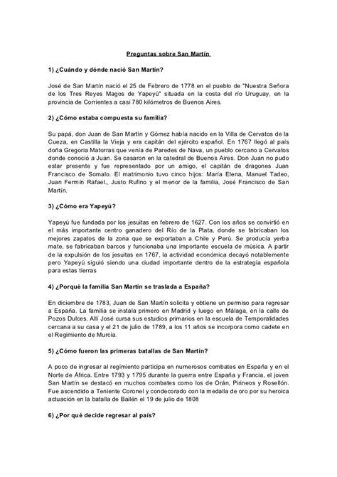 preguntas cultura general en chile san mart 237 n 1