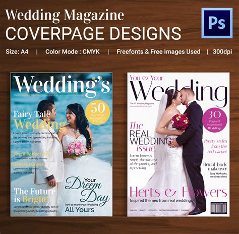 beautiful free wedding magazines magazine cover psd