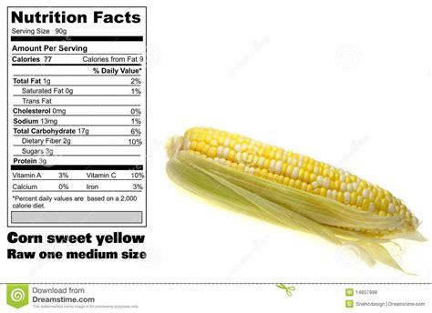 corn calories corn nutritional facts royalty free stock photos image 14807998