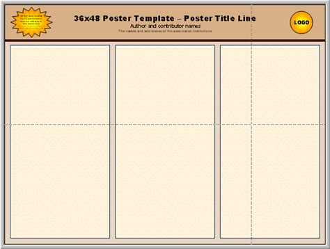 36 x 36 poster template posters4research free powerpoint scientific poster templates
