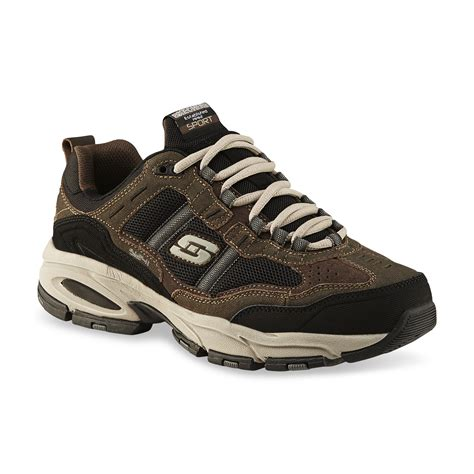wide athletic shoes skechers s trait wide athletic shoe brown black