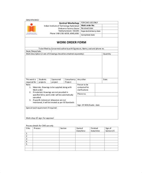 free printable order form template free printable work order forms rabitah net