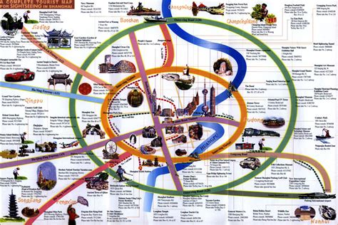 touristic map shanghai tourist map tourist map of shanghai detailed