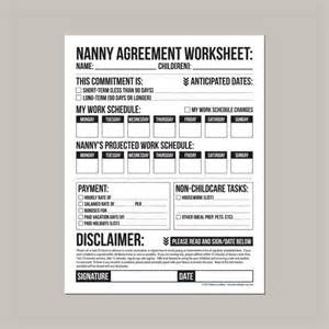 28 nanny to do list template daily nanny duties checklist sheet printable at printable