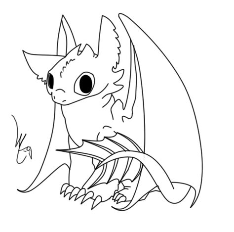 coloring pages of baby toothless baby toothless lineart by lyricabelachium on deviantart