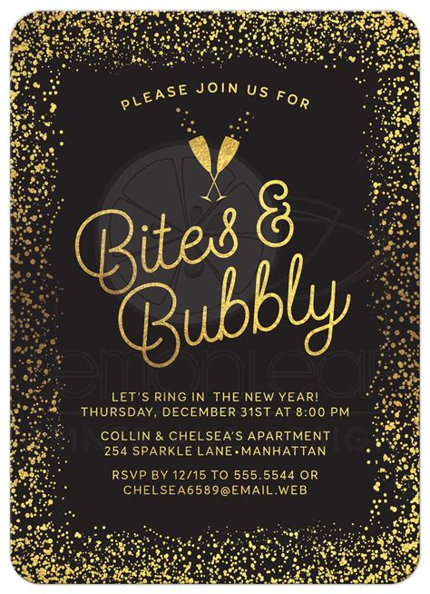 new years invite new year s or invitations golden