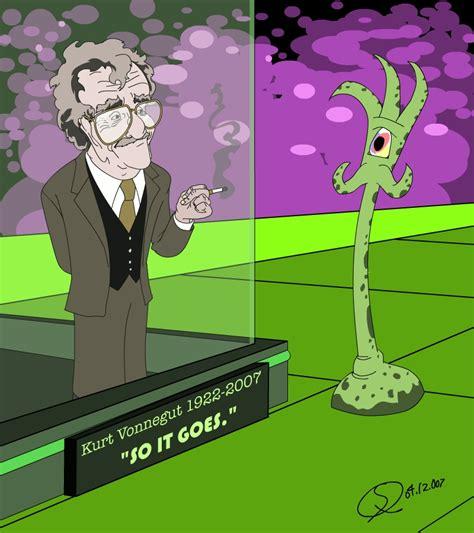 Kurt Vonnegut Dies At 84 So It Goes by Vonne By Sketchbomb On Deviantart