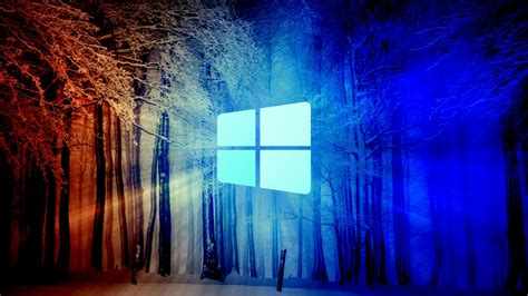 windows  snow forest hd technology wallpapers hd