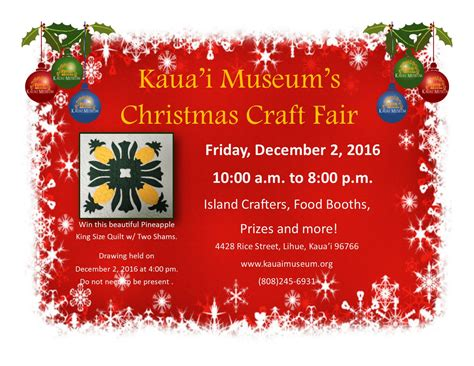 kauai museum annual christmas craft fair 187 187 kauai