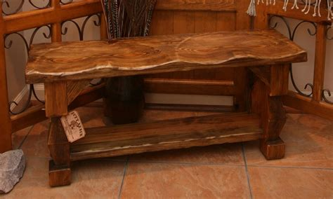 rustic bench custom made hand carved rustic style quot butt bench quot by moss farm designs custommade com