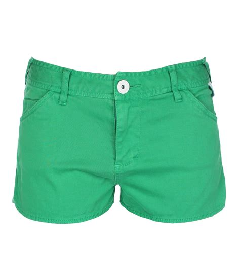 bench shorts womens bench womens good legs denim shorts in green lyst