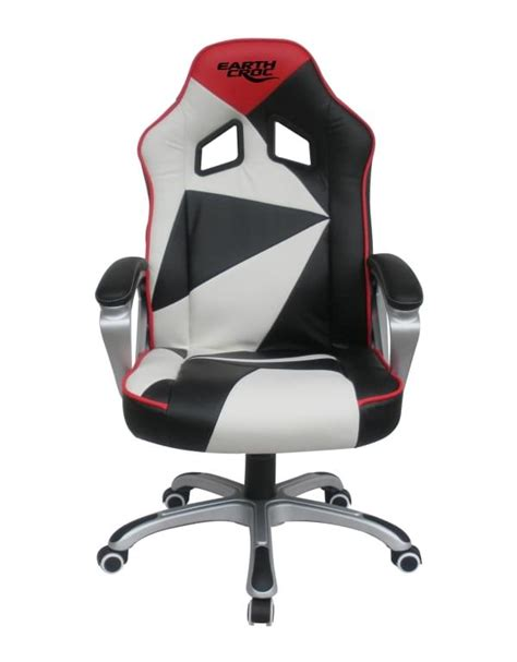 professional computer gaming chair earthcroc professional black white pc gaming chair