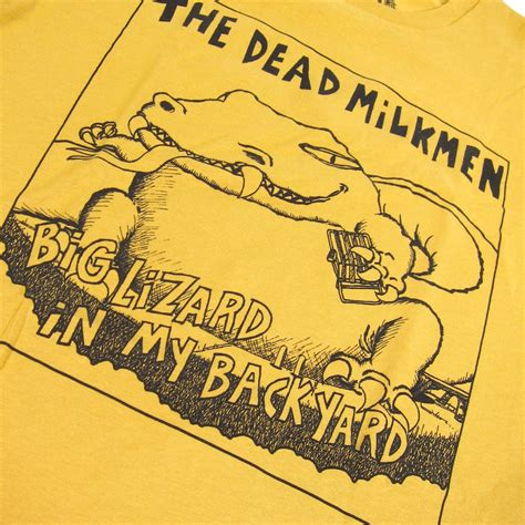 the dead milkmen big lizard in my backyard the dead milkmen big lizard shirt ginger turntablelab com