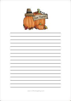 Thanksgiving Writing Paper Template by Give Thanks Stationery Free Printable