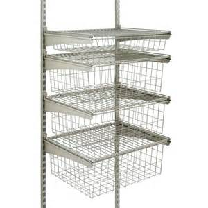 Closetmaid Wire Shelving Kits Closetmaid Shelftrack 4 Drawer Kit In Nickel 32815 The