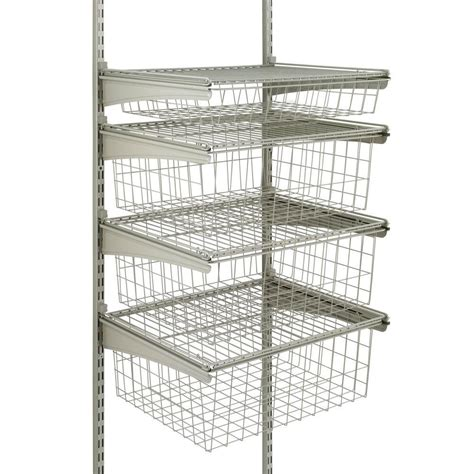Closetmaid Drawer System closetmaid shelftrack 4 drawer kit in nickel 32815 the home depot