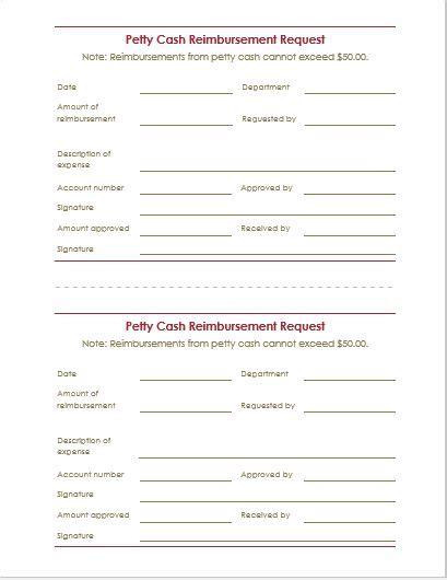 reimbursement request form template reimbursement request form letter templates word