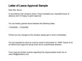 leave approval letter writing professional letters