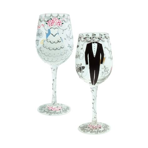 Wedding Gift Wine Glasses by And Groom Wedding Wine Glass Gift Set 174 Designs