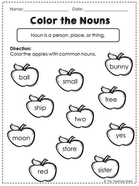 image result for nouns worksheets for grade 1 grammar