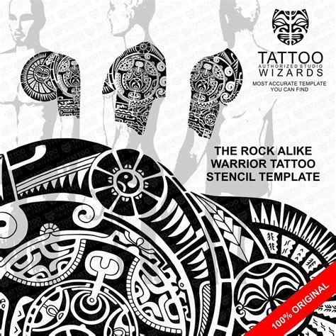 tattoo the rock design the rock dwayne johnson alike maori polynesian