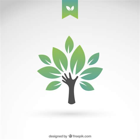 tree logo vector free green eco tree vector free