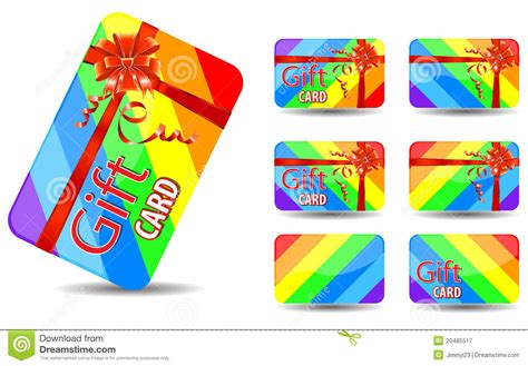 Rainbow Gift Cards - rainbow gift card royalty free stock photography image 20485517