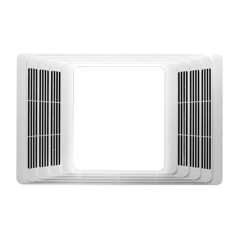 shop broan white bathroom fan with integrated heater and