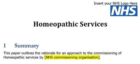 Imperial College Letterhead Homeopathy On The Nhs One Year On Dc S Improbable Science