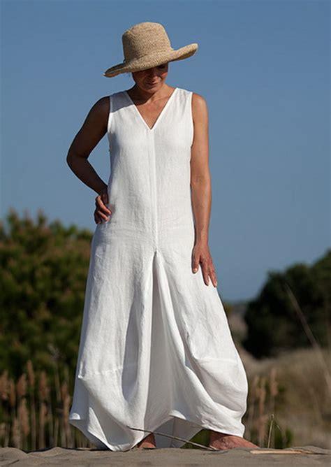 robe blanche lin