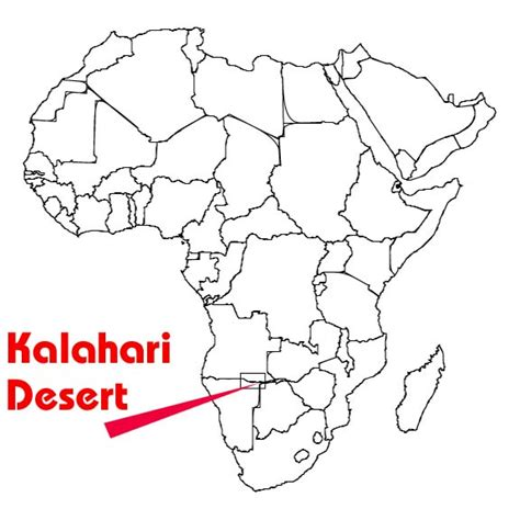 kalahari desert map quia end of the world