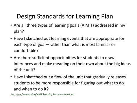 design standards meaning ppt the understanding by design framework acquisition
