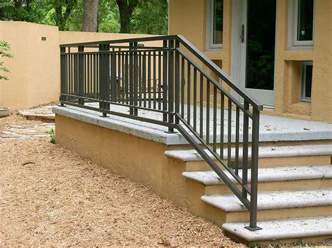 outdoor stair railing ideas  pinterest deck