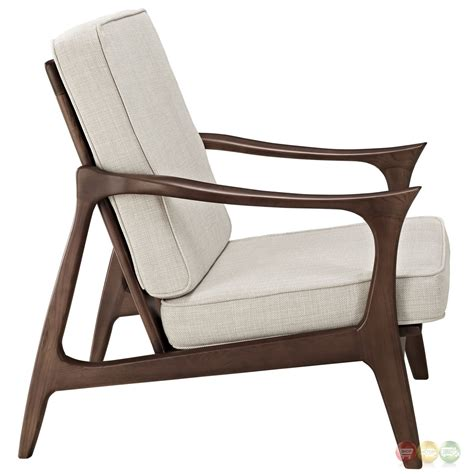 Wooden Lounge Chair by Paddle Wooden Lounge Chair With Upholstered