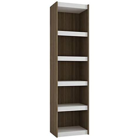 manhattan comfort serra 1 0 white 5 shelf bookcase valenca 10 shelf white wood bookcase 1j361 ls
