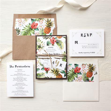 wedding engagement invitation pineapple paradise destination wedding invitations
