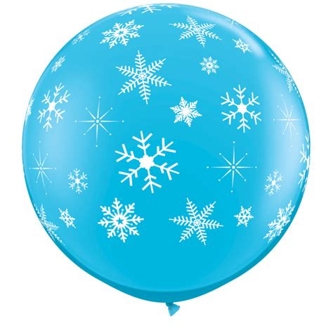 Balon Latek Jumbo Balloon Berkualitas balon jumbo 3 ft albastru fulgi de nea qualatex 18793 partycenter