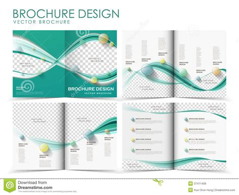 brochure templates pages vector brochure layout design template royalty free stock