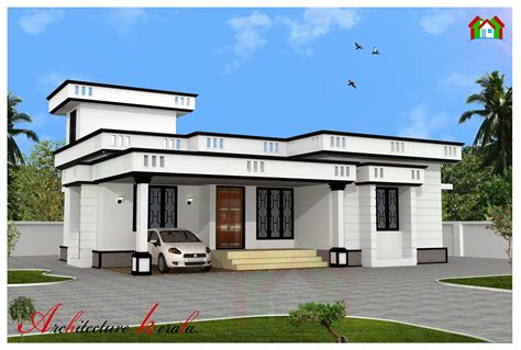 1200 square two bedroom house plan and elevation