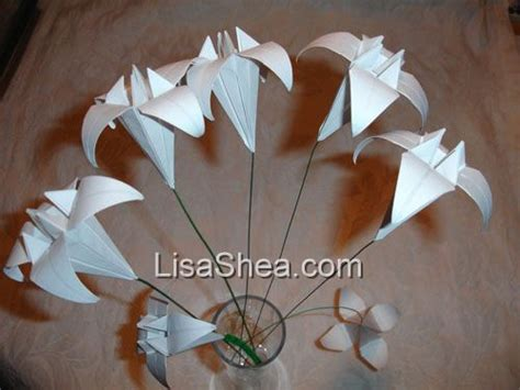 Origami Flowers With Stems - flower origami stems handmade origami sales